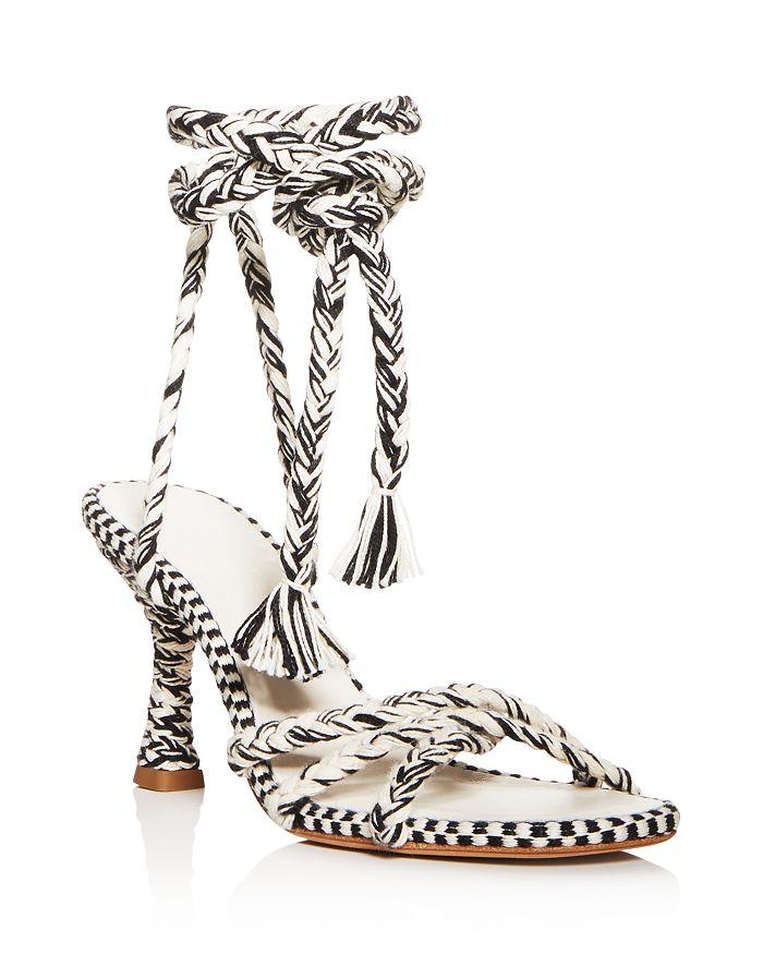 ANTOLINA - Women's Eunice Woven Ankle-Tie High-Heel Sandals