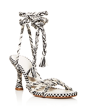 Antolina Women's Eunice Woven Ankle-Tie High-Heel Sandals