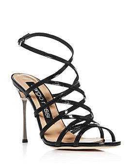 Sergio Rossi - Women's Godiva Steel Strappy High-Heel Sandals