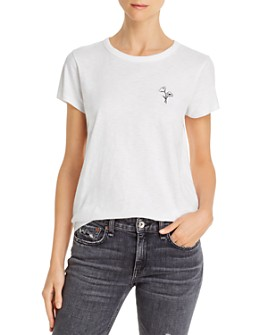 rag & bone - Poppy Embroidered Tee