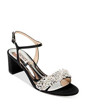 Badgley Mischka - Women's Clair Embellished Block Heel Sandals