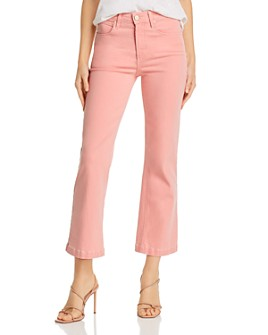 PAIGE - Atley Ankle Flare Jeans in Pink Bloom