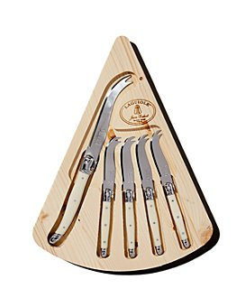 Laguiole Jean Dubost - Cheese Set with Cheese Board and Knives, Set of 5