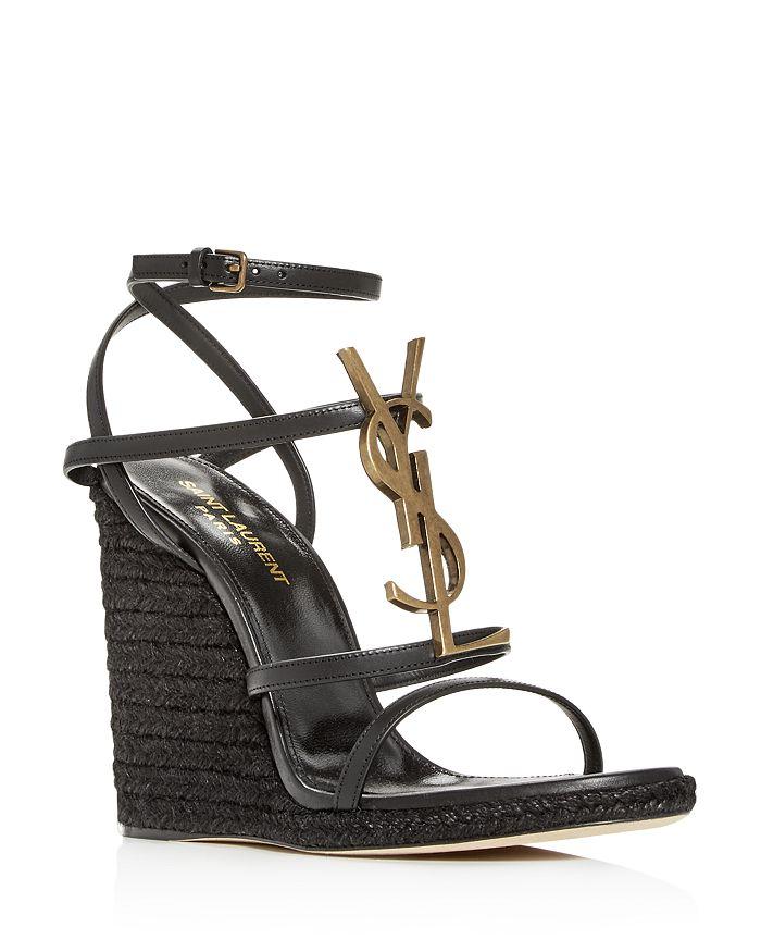 Saint Laurent - Women's YSL Cassandra Espadrille Wedge Sandals