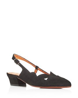 Chie Mihara - Women's Rune Slingback Pointed-Toe Pumps