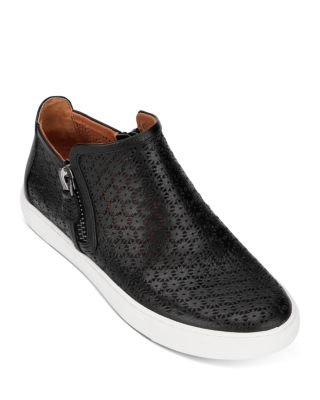 Lowe Perforated Leather Sneakers