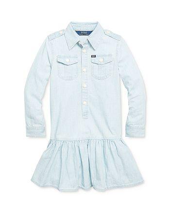 Ralph Lauren - Girls' Chambray Shirt Dress - Little Kid