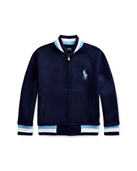 Ralph Lauren - Boys' Stripe-Trim Baseball Jacket, Little Kid - 100% Exclusive