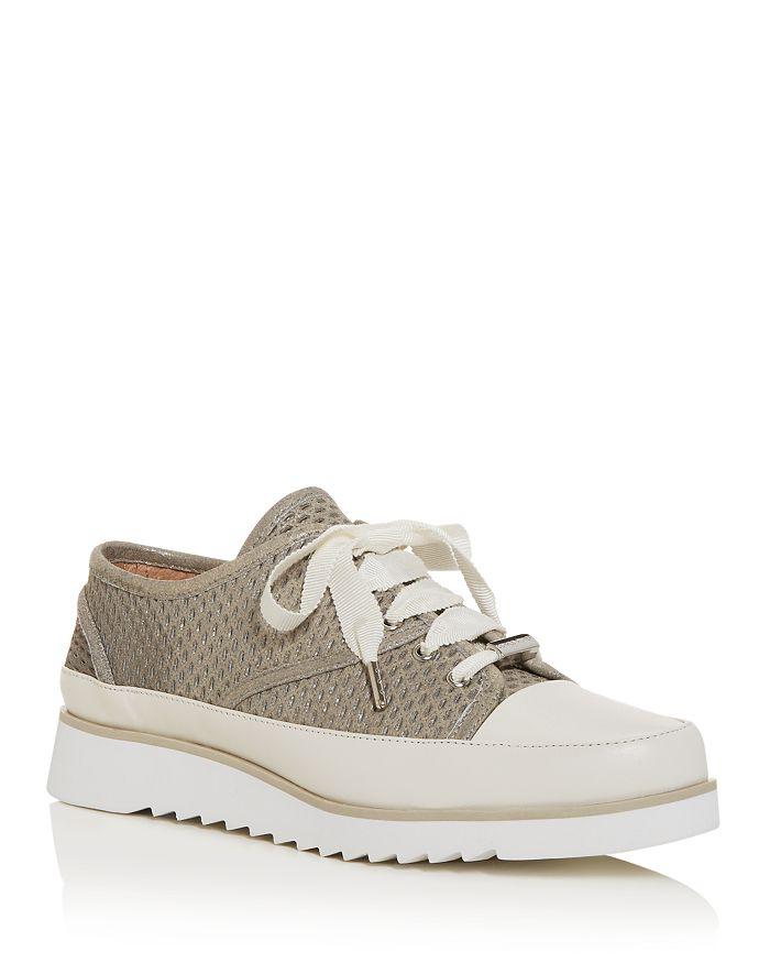 Donald Pliner - Women's Flipp Perforated Low-Top Platform Sneakers