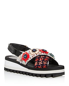 KURT GEIGER LONDON - Women's Olina Embellished Slingback Platform Sandals