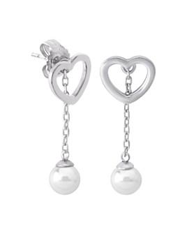 Majorica - Simulated Pearl Interchangeable Drop Earrings in Sterling Silver