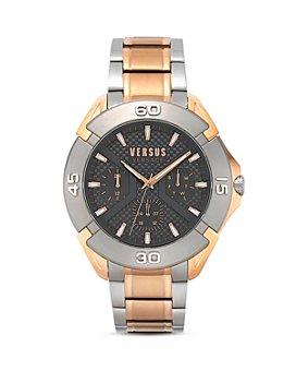 Versus Versace - Versus Rue Oberkampf Rose Gold & Silver Tone Link Bracelet Watch, 46mm