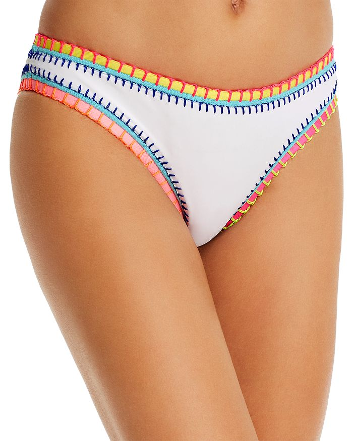 Platinum Inspired By Solange Ferrarini Water Lily Whipstitched Scoop Bikini Bottom - 100% Exclusive