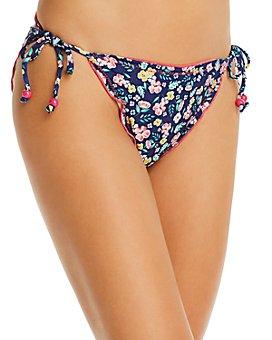 Shoshanna - Moonlight Garden Print Lettuce String Bikini Bottom