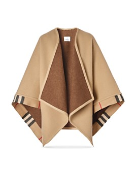 Burberry - Check-Trim Wool & Cashmere Cape