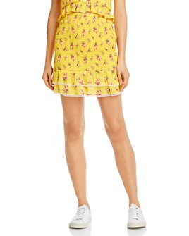 Lost and Wander - Mango Tango Floral Smocked Skirt