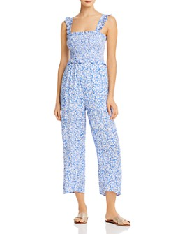 Lost and Wander - Pick Me Smocked Wide-Leg Jumpsuit - 100% Exclusive