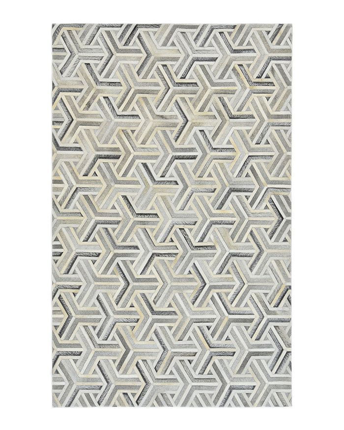 Timeless Rug Designs - Leighton Cowhide S3076 Area Rug, 8' x 10' - 100% Exclusive