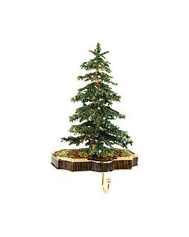 Olivia Riegel - Christmas Tree Crystal & Pewter Stocking Holder