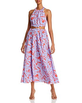 LIKELY - Karrica Botanical Print Cutout Dress