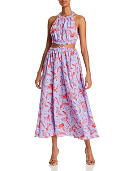 LIKELY - Karrica Botanical Print Cutout Dress