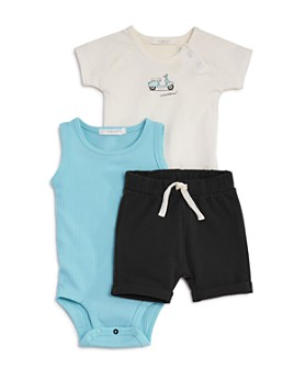 FIRSTS by petit lem - Boys' 3-Piece Bodysuit & Shorts Set - Baby