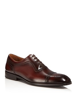 Bruno Magli - Men's Ancona Leather Cap-Toe Oxfords