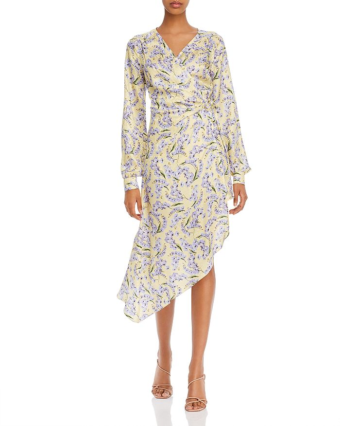 Art Dealer - Meg Silk Floral-Print Asymmetrical Wrap Dress