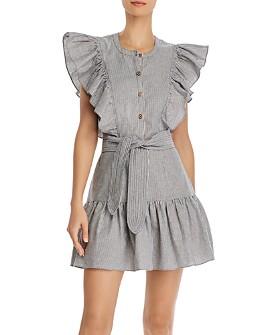 Saylor - Melody Ruffle Button-Front Mini Dress