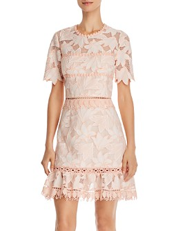Saylor - Brigit Floral Lace Mini Dress