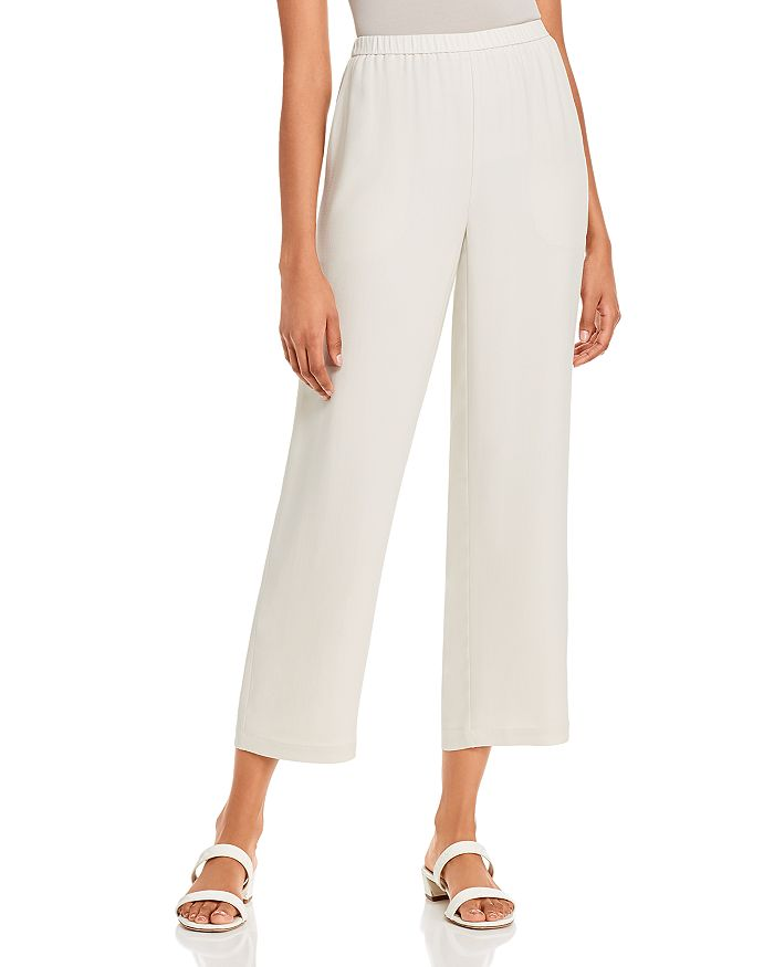 Eileen Fisher - Silk Straight-Leg Pants