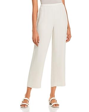 Eileen Fisher Petite System Silk Straight-Leg Pants