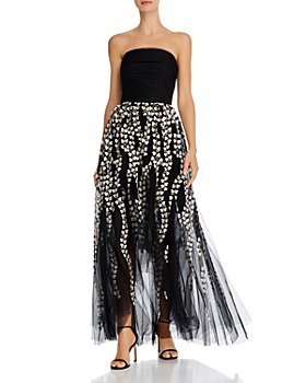 BCBGMAXAZRIA - Strapless High/Low Gown