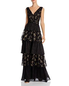 Rachel Zoe - Payten Metallic Embroidered Gown