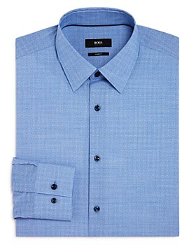 BOSS - Jano Dobby Solid Slim Fit Dress Shirt