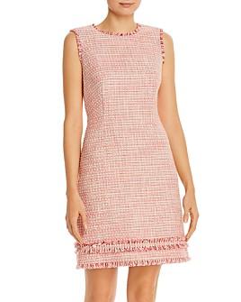 PAULE KA - Fringed Sleeveless Tweed Dress