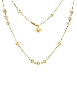 "Gumuchian - 18K Yellow Gold Diamond Station Necklace, 36"""