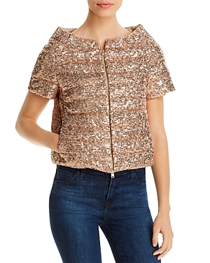 Herno Sequined Short-Sleeve Down Jacket-Women
