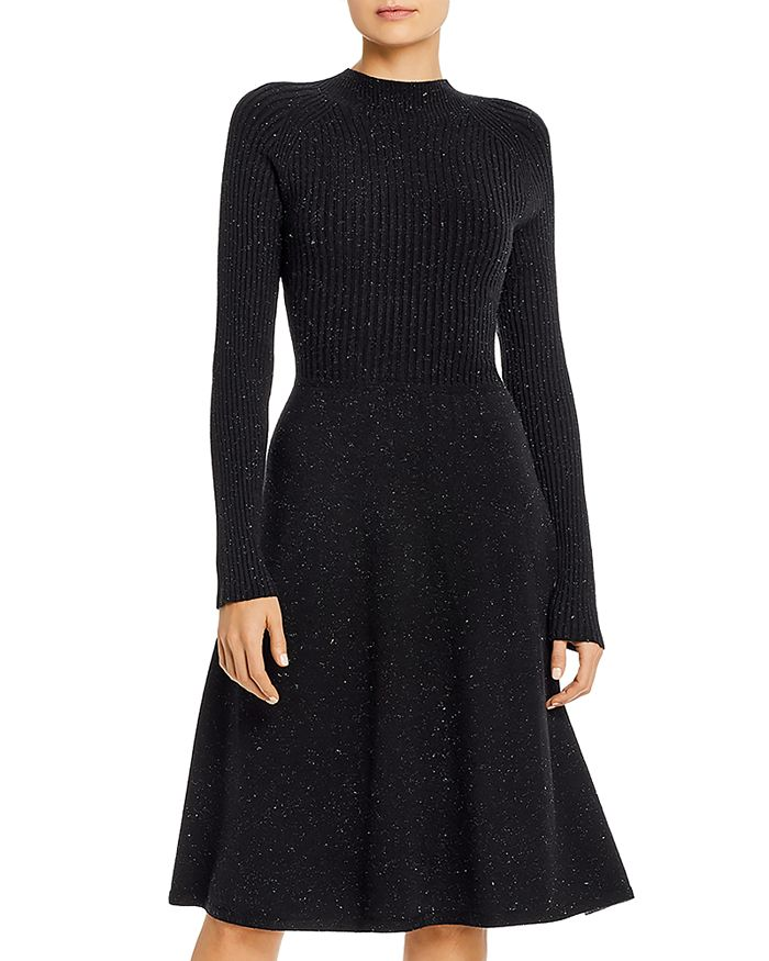 525 - Fit-and-Flare Sweater Dress