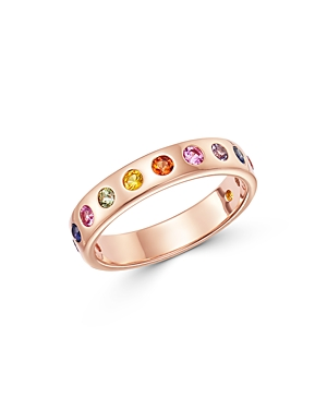 Bloomingdale's Rainbow Sapphire Band in 14K Rose Gold - 100% Exclusive