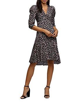 Bailey 44 - Olivia Puff-Sleeve Leopard Print Dress