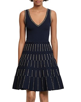 Sandro - Jasm Fit-and-Flare Knit Dress