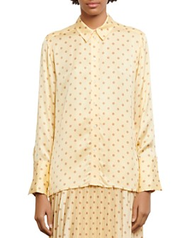 Sandro - Peany Polka-Dot Button-Down Shirt