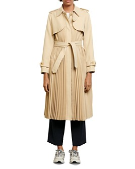 Sandro - Vino Pleated Trench Coat