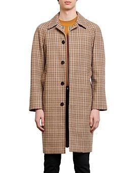 Sandro - Carnaby Plaid Trench Coat
