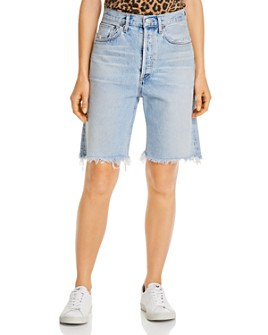 AGOLDE - 90's Mid-Rise Loose Denim Jean Shorts in Riptide