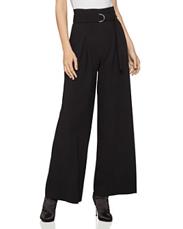 BCBGMAXAZRIA - Belted Wide-Leg Pants