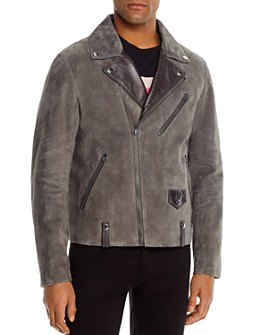 COACH - Suede Slim Fit Moto Jacket