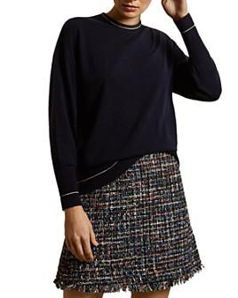 Ted Baker - Bhekka Sparkle-Trimmed Oversize Sweater