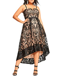 City Chic Plus - Embroidered High/Low Dress